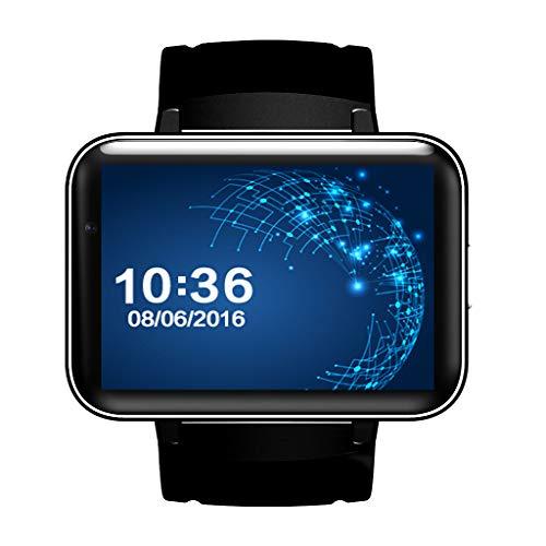 Smart Mobile Watch, 2.2-inch MTK2502C Pedometer SIM Video Record Music TF Card Extend GSM MP3 MP4 Camera Smartwatch Phone (Black/Green/Silver),Black (512 Mb Mp3 Watch)