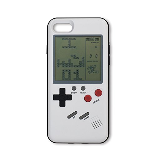 sports shoes da509 cffb4 Keklle Game Case Game-Boy Tetris iPhone Case Shell TPU Silicone Protective  Cover Retro Gameboy Case for iPhone Case (iPhone 6 Plus/ 6s Plus (White))