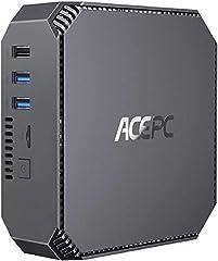 Mini PC, ACEPC CK2 Intel Core i5-7200U Windows 10 Pro Desktop Computer, 8GB RAM+128GB M. 2 NVME SSD, VGA + HDMI + Mini...