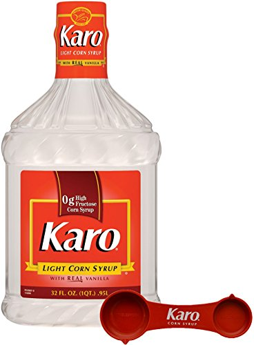 Karo - Light Corn Syrup with Real Vanilla, 32 Ounce Bottle - Includes Karo Measuring Spoon by Karo