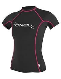O'Neill Wetsuits UV Sun Protection Womens Skins Short Sleeve Crew Sun Shirt Rash Guard