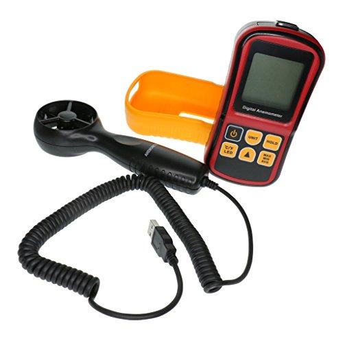 D DOLITY Anemómetro Medida de Velocidad de Viento USB Cable Work-box GM8901 Digital Aire Flujo