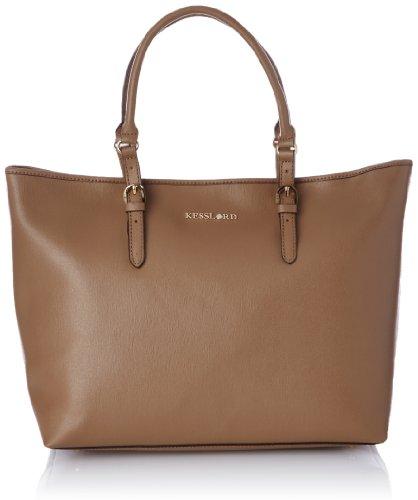 Kesslord Womens Kabas Shoulder Bag Beige (Taupe)