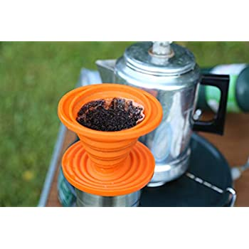 UST Collapsible Flexware Coffee Drip with Strong, Flexible, Compact, BPA Free Design and Lid Seal for Hiking, Backpacking, Camping and Outdoor Survival