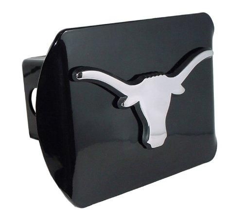 UTX University of Texas Chrome Longhorn Black Hitch Cover