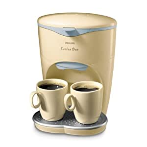 Philips Cucina Duo - Cafetera automática, color crema