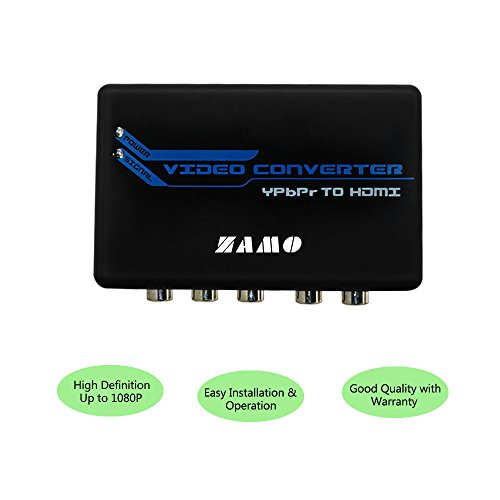 ZAMO 5RCA Component RGB YPbPr to HDMI Converter v1.3 HDCP Video Audio Converter Adapter for DVD, PSP, Xbox 360 to new HDTV or Monitor - Xbox 360 Hdmi Adapter