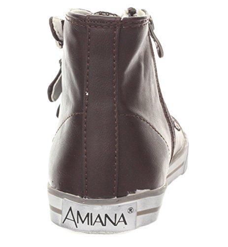 Amiana 15-a5172 Höga Bästa Gymnastikskor Plommon Avslappnad