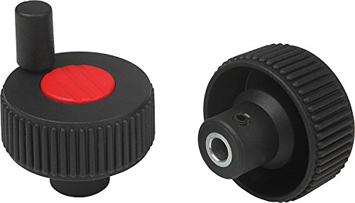 Pack of 10 Metric Size 2 Traffic Red Wheel Cap Color Style M 52 mm Height 50 mm Diameter Kipp 06268-12066 Thermoplastic Novo/·Grip Grey with Tapped Set Screw Hole Positioning Wheels