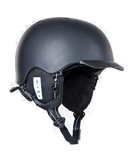 Babaali Smart Ski and Snowboard Helmet with Embedded Bluetooth Speakers - Black, Medium