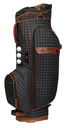 Leather Deluxe Golf Bag - OGIO 2018 Majestic Cart Bag, Brown Leather