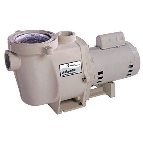 Pentair 011518 WhisperFlo High Performance Energy Efficient Single Speed Up Rated Pump, 1 1/2 Horsepower, 115/208-230 Volt, 1 Phase Pentair Whisperflo Pool Pump