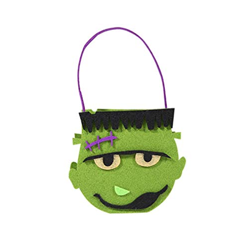 Halloween, Frankenstein,Bag GiftCartoon Tote Bag Ghost Festival Children Candy Bag (Holiday Bicycle Ornament)