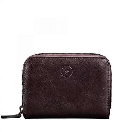 Maxwell Scott Luxury Brown Leather Zipper Wallet - Medium (Forino) by Maxwell Scott Bags