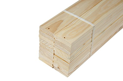 "Pack of 18 Loose 100% Solid Pine Wood Slats for Twin Size Beds and Bunk Beds by Palace Imports, 39.25""L x 2.75""W x 0.75""H"