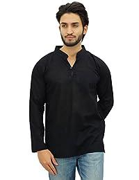 Atasi Men's Band Collar Short Kurta Cotton Casual Shirt