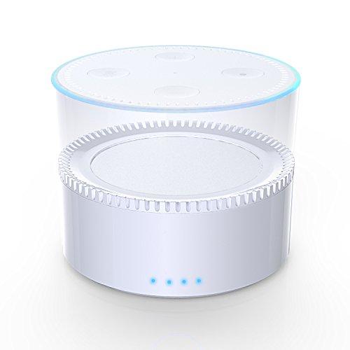 "Fremo Evo - an intelligent Battery Base for 2nd Generation Echo Dot. (""Alexa"" unlimited)(EVO White)"