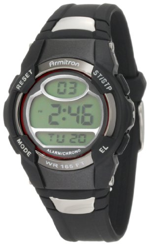 Armitron Sport Unisex 45/6975RED Chronograph Black Digital Watch by Armitron Sport