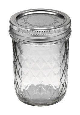 Ball Jar Quilted Crystal Jelly (Case of 12), 8 - Crystal Quilted Jelly Ball