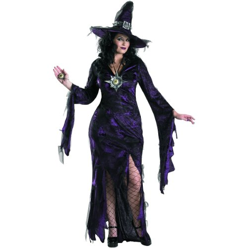 Disguise Women's My Sorceress Women Plus Size Costume, Black, X-Large]()