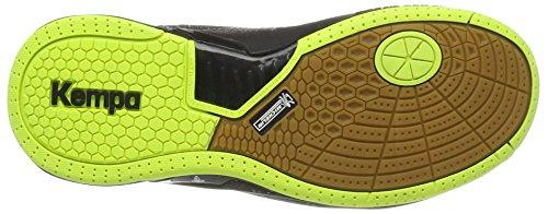 adidas Herren Attack Pro Contender Caution Handballschuhe, Schwarz (Schwarz/Fluo), 49 EU