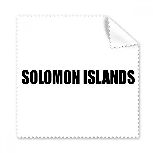 - Solomon Islands Country Name Black Glasses Cloth Cleaning Cloth Phone Screen Cleaner 5pcs Gift