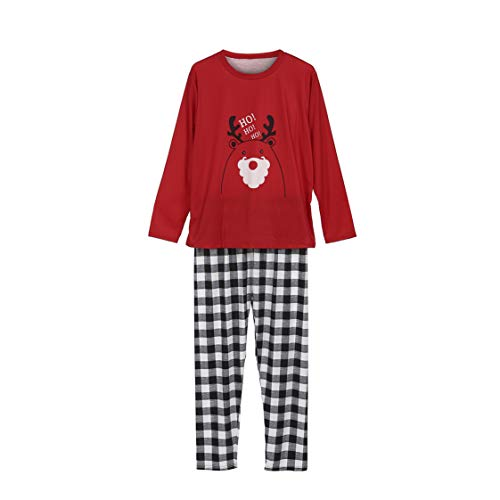 Christmas Family Matching Matching Pajamas Set Xmas Kids Baby Family Adult Nightwear Pyjamas Outfits Sets (Men, Men-L) (Christmas Nightwear)