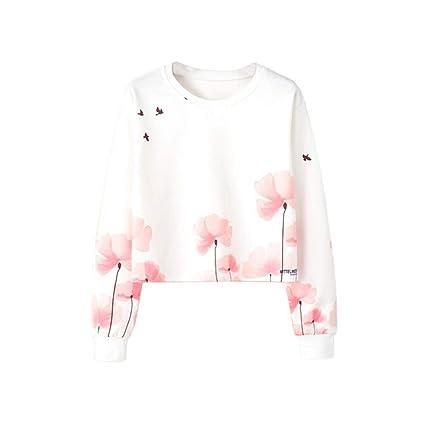Mujer sudadera otoño,Sonnena ❤ Blusa de manga larga mujer otoño moda Sudadera estampada