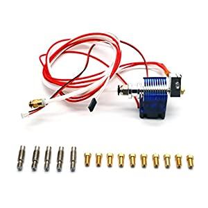 E3d V6 All Metal Hotend Full Kit With 12V Bowden/RepRap 3d Printer Extruder Parts 0.4mm Nozzle Brass Print Head by Shenzhenshilixiangmaoyiyouxiangongsi
