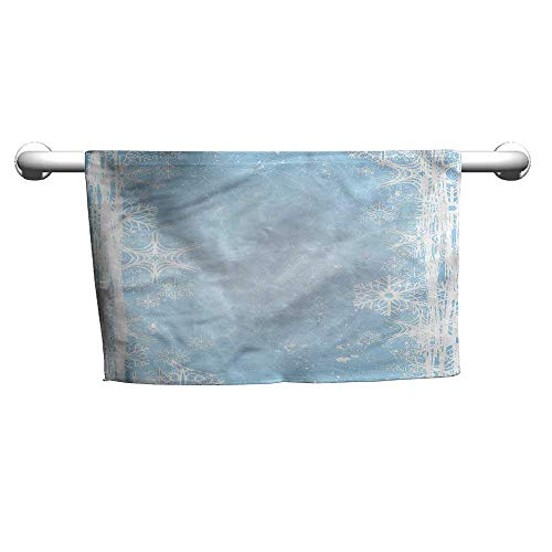 (flybeek Cute Hand Towels Winter,Christmas Snowflake Soft,Beach Poncho Towel for Kids)