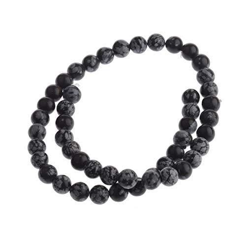 Gatton Natural Stone Sea Sediment Gemstone Round Loose Beads DIY Bracelets 4mm 6mm 8mm | Model BRCLT - 43432 | Alabaster-8mm