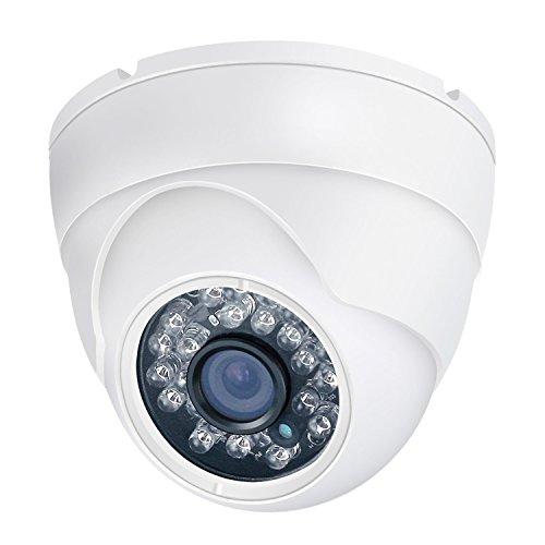 CCTV Camera HD 1080P 4- in-1 (TVI/ AHD/ CVI/ CVBS) Dome Security Camera 3.6mm Fixed Day/Night 65ft IR Distance Indoor & Outdoor Waterproof IP66