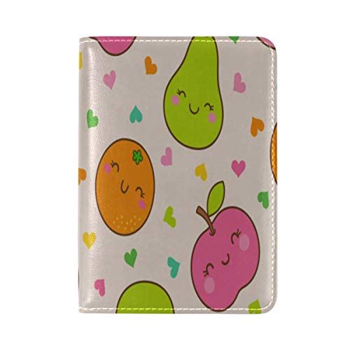 Passport Holder Cute Fashion Funny Fruit Pear Printing Multi Purpose Passport Cover Case Decorate Travel Wallets For Men Girls Adult 5.51
