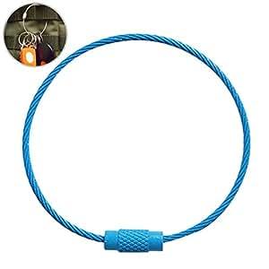 Amazon.com: fansport clave alambre anillo llavero de acero ...