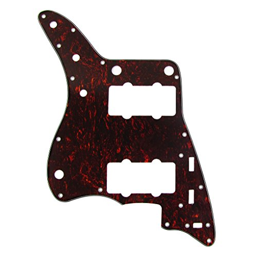 IKN Red Tortoise 4Ply Guitar Pickguard Scratch Plate for American Fender Style Vintage JM Guitar, with Screws by IKN (Image #4)