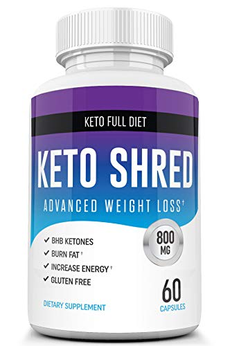 Keto Ultra Shred Diet Pills from Shark Tank - Keto Advanced Weight Loss Fat Burners for Women and Men | Keto BHB Salts to Burn Fat Fast on Keto Diet | Ketogenic Keto Slim Supplement - 60 Count