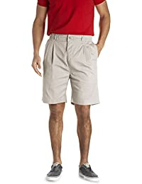 by DXL Big and Tall Elastic-Waist Pleated Twill Shorts