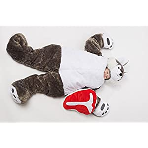Snoozzoo The All New Wolf Children's Stuffed Animal Sleeping for Children UP to 54 INCHES Tall!!