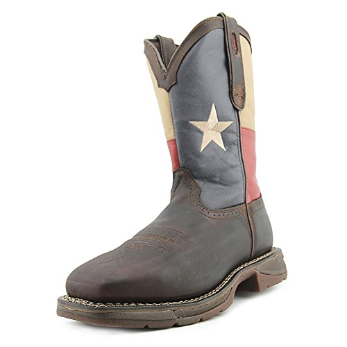 Durango Men's DB021 Western Boot, Dark Brown/Texas Flag, 9 M US (Mens Leather Rebel Flag)