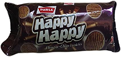 Parle Happy Happy Cookies - Choco Chip, 60 g + free 20 g = 80 g