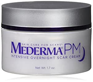 Mederma PM Intensive Overnight Scar Cream - Works with Skin's Nighttime Regenerative Activity - Once-Nightly Application Is Clinically Shown to Make Scars Smaller & Less Visible- 1.7 ounce