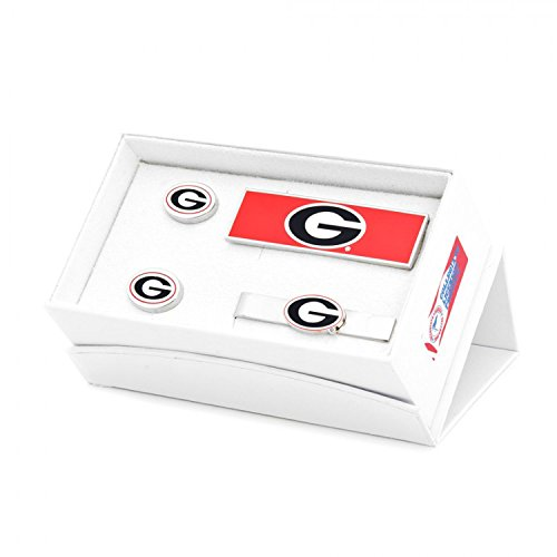 NCAA Mens Georgia Bulldogs 3-Piece Gift Set by Cufflinks