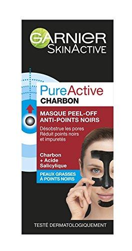 Garnier Pure Active Charbon Masque Peel-Off Anti-Points Noirs 50 ml - Lot de 2 C6104500
