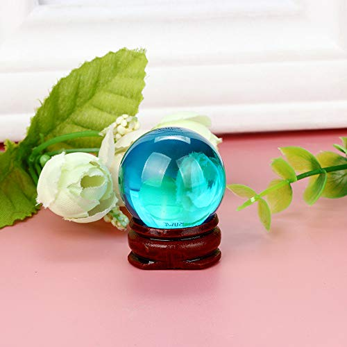 Wffo Natural Quartz Magic Crystal Ball, Healing Ball with Sphere and Stand 30mm (H)