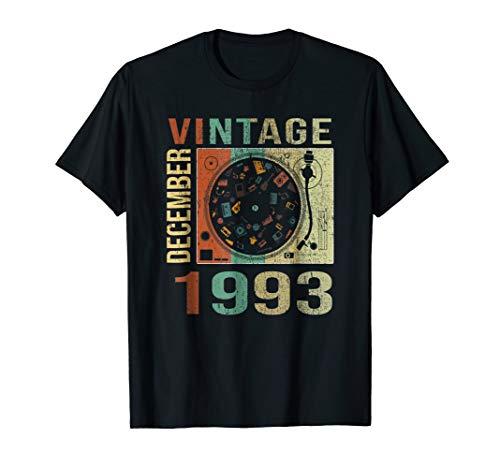 Vintage December 1993 T Shirt 1993 25th Birthday Men Women ()