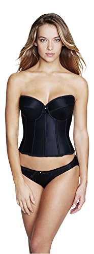 Dominique Satin Low Back Strapless Underwire Bustier Style 7750 - Black - 36DD ()