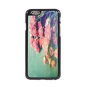TOPMM Elegant Rose Pattern Aluminum Hard Case for iPhone 6 Plus
