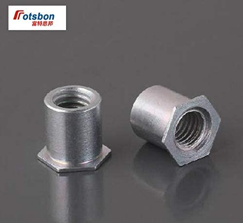 Nuts 1000pcs SO4-440-4//6//8//10//12//14//16//18//20//22//24 Thru-Hole Threaded Standoffs Stainless Steel PEM Standard Factory Wholesales Size: SO4-440-6