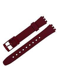 Silicone Women's Watch Band Replacement Swatch case Diameter 25mm Strap Width 12mm Swiss Quartz Watch Strap