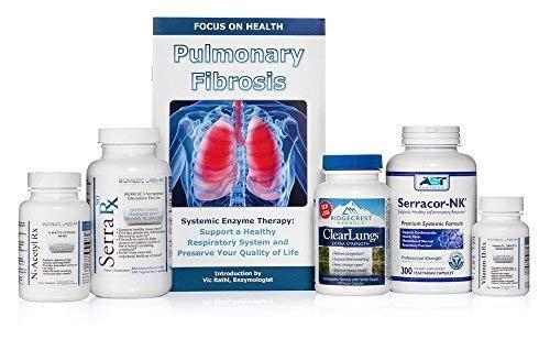Lung - Pulmonary Support Bundle (5 Bottles) Serracor-NK 300caps - Systemic Proteolytic Enzymes, Serra-Rx 80,000 SU 180caps Enteric-Coated Serrapeptase, Clear Lungs 120caps, NAC 90caps & Vit. D3 60caps (Best Treatment For Copd)